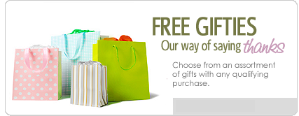 Free gift with each purchase