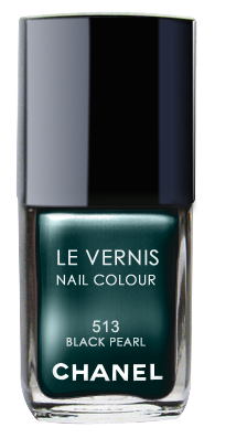 Chanel Le Vernis Nail Color Colour Polish Black Pearl No. 513
