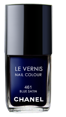 Chanel Le Vernis Nail Color Colour Polish Blue Satin 461