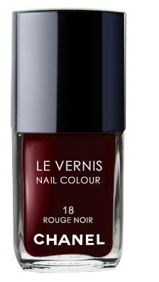Chanel Le Vernis Nail Color Colour Polish Rouge Noir No 18
